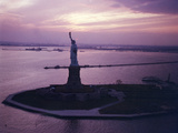 Statue of Liberty on Bedloe's Island in New York Harbor