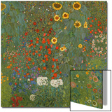 Farm Garden with Sunflowers, 1905-06 Acrylique par Gustav Klimt