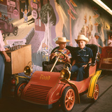 July 17 1955: Children Riding Mr Toad Vehicle in the Mr Toad Wild Ride  Disneyland  California