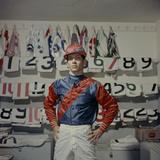 Portrait of Jockey Bill Willie Hartack Jr 1955