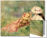 Young Girls on the River Bank Acrylique par Pierre-Auguste Renoir