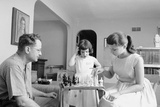 Colonel John Paul Stapp at Home Playing Chess with His Family  Dayton  Oh  1959