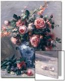 Bouquet de roses - Van Gogh Acrylique par Pierre-Auguste Renoir