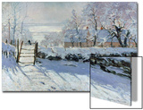 La pie, 1869 Acrylique par Claude Monet