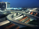 Los Angeles Freeway Evening Long Exposure  1959