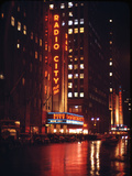 1945: Radio City Music Hall Lit Up at Night  New York  Ny