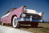 Low-Angle View of a 1954 Ford Fairlane Automobile