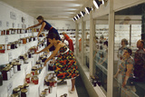 1955: Judges Examining Various Preserves and Butters  at the Iowa State Fair  Des Moines  Iowa