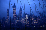 1945: New York Skyline View During Twilight Hours