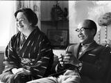 Soichiro Honda and Wife Sachi  Tokyo  Japan  1967