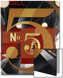 I Saw the Figure 5 in Gold Acrylique par Charles Demuth