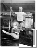 Opera Singer Roberta Peters Balancing Her Trainer  Joseph Pilates  on Her Operatic Breadbasket