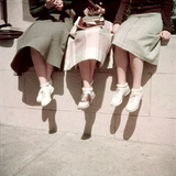 Oakland High School Teenage Girls  Oakland  CA  1950