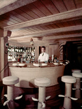 Bar on the Ship 'Christina O' Owned by Shipping Magnate Aristotle Onassis  1954