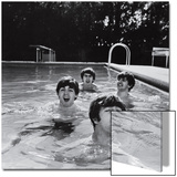 Paul McCartney  George Harrison  John Lennon and Ringo Starr Taking a Dip in a Swimming Pool