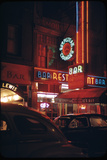 1945: a Night Image of Beef Steak Charlie's Restaurant on 50th and Broadway  New York  NY