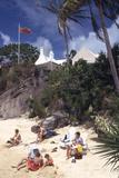 July 1973: Beach Goers in Bermuda