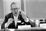 Lawyer Mr Paul Porter Speaking at the Arden House Economic Conference  New York  NY  1958