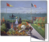 The Terrace at Sainte-Adresse, 1867 Acrylique par Claude Monet