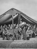 1945: Teenaged German Pow Sit under a Tent as They Listen to a History Lesson  Attichy  France