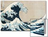 La grande vague de Kanagawa, de la séries «36 vues du Mt. Fuji» (Fugaku sanjuokkei) Acrylique par Katsushika Hokusai