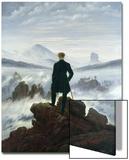 Le Voyageur contemplant une mer de nuages, vers1818 Acrylique par Caspar David Friedrich