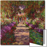A Pathway in Monet's Garden, Giverny, 1902 Acrylique par Claude Monet