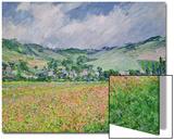 The Poppy Field Near Giverny  1885