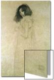Portrait d'une jeune femme, 1896-97 Acrylique par Gustav Klimt