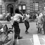 Two Boys Play-Fight While Other Children Look On  Harlem  1938
