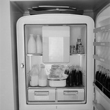 Refridgerator Stocked with Milk and Soda at the Ford Modeling Agency Owned by Eileen Ford