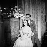 Director Sidney Lumet and Gloria Vanderblit at their Wedding Reception  New York  August 1956