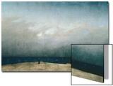 Le Moine au bord de la mer, 1809 Acrylique par Caspar David Friedrich