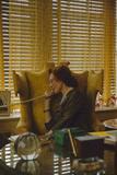 """Miss Evyan """"Baroness Langer Von Langendorff"""" Sitting at Her Desk  New York  NY  1956"""