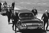 Secret Service Agents in Training Running with Motorcade  Washington DC  1968