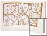 Three Figures Acrylique par Paul Klee