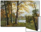 Un lac paisible Acrylique par Albert Bierstadt