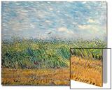 Wheatfield with Lark, 1887 Acrylique par Vincent Van Gogh