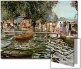 La Grenouillere, 1869 Acrylique par Pierre-Auguste Renoir