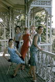 Australian Models Pose on a Porch  Melbourne  Australia  1956