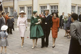 Dior Models Posing with Military Man in the Soviet Union  Moscow  Russia  1959