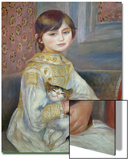 Portrait of Julie Manet or Little Girl with Cat Acrylique par Pierre-Auguste Renoir