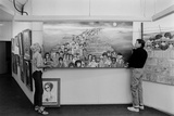Artists Walter Keane and Margaret Keane Hanging Work Up  Tennessee  1965