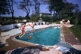 1959: Mrs Wilbur S Forrest's Pool in New Hope  Pa  a Treat for Her Eight Grandchildren