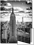 Cityscape, Empire State Building and One World Trade Center, Manhattan, NYC Acrylique par Philippe Hugonnard
