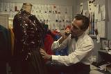 Fashion Designer David Crystam Working on Garments for David Carystal Inc  New York  NY  1960