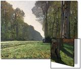 Le pavé de Chailly (forêt de Fontainebleau), vers 1865 Acrylique par Claude Monet