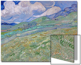 Champ de blésur fond demontagnes, 1889 Acrylique par Vincent Van Gogh