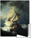 The Storm on the Sea of Galilee Acrylique par Rembrandt Van Rijn