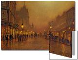 Une rue la nuit Acrylique par John Atkinson Grimshaw